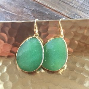 Stella & Dot green earrings